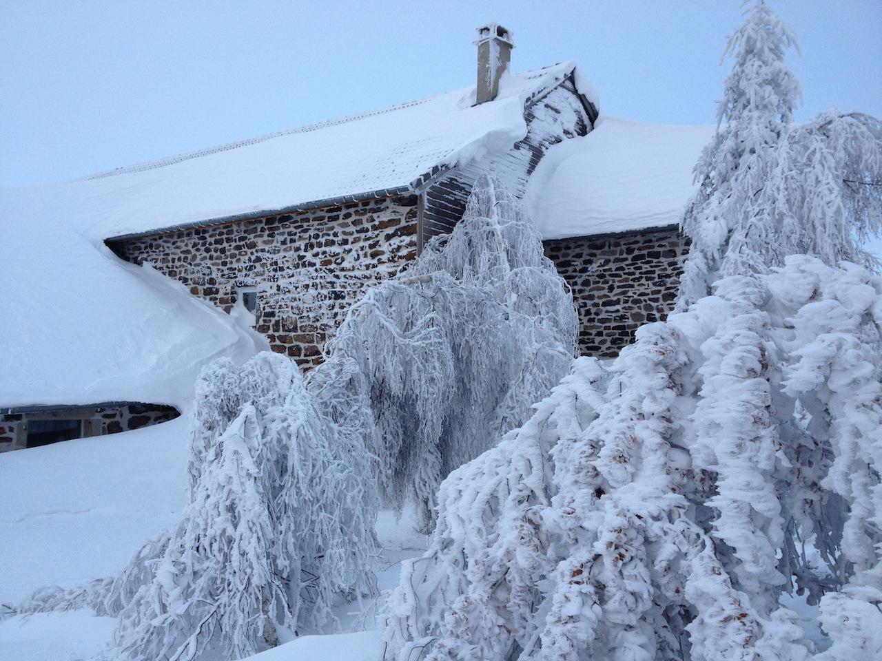 La Vidalle sous la neige: